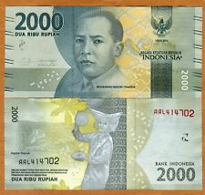 Indonesia, 2000 Rupiah, 2016, P-New, Redesigned, UNC