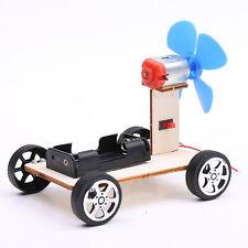 Mini DIY Wooden Wind Car Child Educational Toy Brush Motor Robot For Arduino