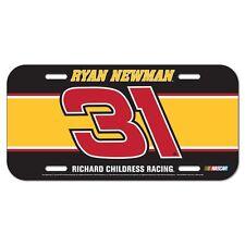 Ryan Newman Wincraft #31 Richard Childress Racing Poly License Plate FREE!