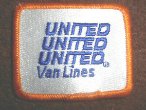 UNITED VAN LINES EMBROIDERED SEW ON PATCH TRUCK MOVING COMPANY