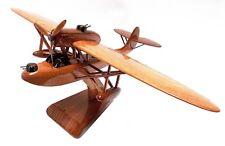CANT Z.501 Gabbiano Italiain Flying Boat Military Aircraft Wooden Desktop Model.
