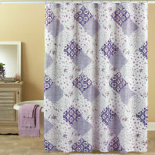 Shabby Cottage Chic WILMINGTON Lilac Pink Patchwork Pattern Shower Curtain New