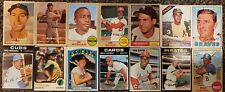 1957 1960s 1970s Topps Baseball Cards Lot DeMaestri Brock Morgan Carlton Jackson