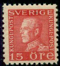 SWEDEN #191v 15ore rose red, type II, (E on collar) og, NH, VF, Facit $80.00