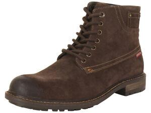 Levi's Men's Sheffield-Suede Brown Levis Ankle Boots Shoes Sz: 13