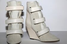 ISABEL MARANT Calf Leather Suede Wedge Ankle Boots Size 38  $1560