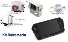 KC195 Kit Retrocamera Parcheggio Camper CMOS Infrarosso + Specchietto Monit RN