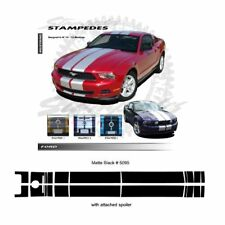 Ford Mustang 2010-2012 w/ Lip Spoiler Ralley Stripes Graphic Kit - Matte Black