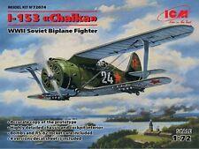"ICM 1/72 Polikarpov I-153 ""Chaika"" WWII Soviet Biplane Fighter # 72074"