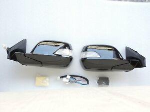 NEW~Pair~Auto~Power Folding Mirrors Led Light Set for HONDA CRV 07 ~11 3th Gen