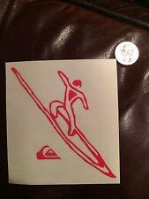VINTAGE Eddie Would Go Quiksilver Waimea Surf Die Cut Sticker - Red - RARE