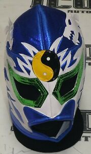 DRAGON LEE SIGNED AUTO'D MASK BAS COA LUCHA LIBRE NJPW ROH CMLL CHAMP WRESTLING