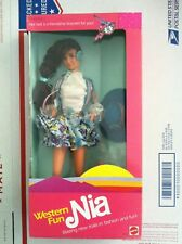 Barbie Western Fun Nia (1989)   almost mint NRFB vintage