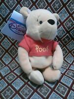 """Disney Store Bean Bag Pooh 8"""" Winnie The Pooh and Friends Plush Toy NEW NWT"""