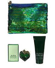 Gift Set Thierry Mugler Aura Perfume 5ml EDP Body Lotion 50ml Make Up Bag Women