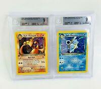 BGS 9 1st Edition Dark Charizard  Holo & Blastoise 4/82 Team Rocket Pokemon Card