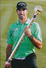 Alvaro QUIROS SIGNED Autograph 12x8 Photo AFTAL COA Dubai TROPHY Golf