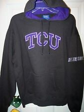 TCU Texas Christian Horned Frogs Dark Gray Purple Hoodie Jacket Mens Size XL NWT