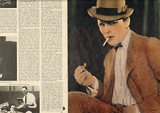 COUPURE de presse PHOTO CLIPPING  LON CHANEY  ( Reportage 4 pages)
