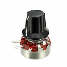 Wh118 330k Ohm Variable Resistors Rotary Carbon Film Potentiometer W Knobs