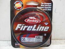 Berkley Fire Line 125/yd 30/lb smoke braid fish line