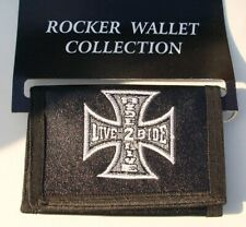 Iron Cross Live 2 ride - Ride 2 live Faux leather wallet