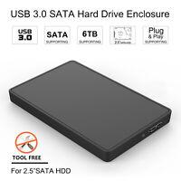 USB 3.0 SATA External Hard Drive Case Portable For WD,SanDisk,Seagate,Samsung