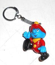 1996 Peyo Smurfs ~ SMURF KEYRING ~ by Schleich Toys (A1)