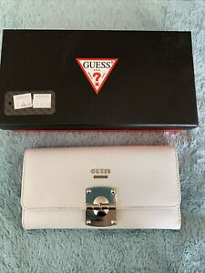 White guess purse in box