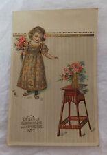 AK Glückwunsch zum Namenstag Mädchen Blumensäule gel. 1914