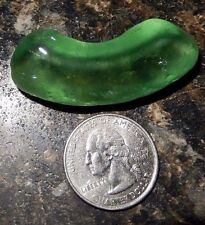 Sea Glass! Genuine Surf Tumbled Green Bottle Bottom~100% Frosted~Fast Free Ship!