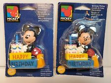 2 Vintage Nos 1998 Walt Disney Mickey Mouse Birthday Candles Unused Wilson