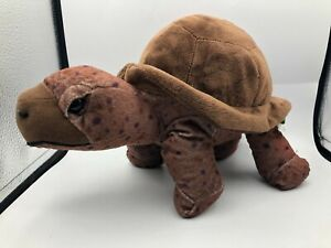 Wild Republic Cuddlekins 2014 Brown Turtle Tortoise Plush Stuffed Toy Animal