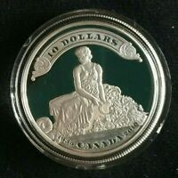 2010 Canada $10 PROOF Silver Coin | 75th Anniv. of First Bank Notes Issued | OGP