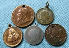 1842 Groat Silver Coin Shakespeare etc. Lot 5 Victorian Edwardian Medalet Charms