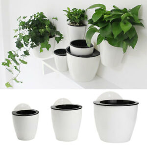 Self-watering Plant Flower Pots Wall Hanging Plastic Planter House Garden Decors