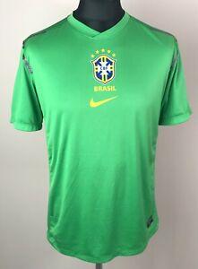 Brazil 2012 NIKE Dri-Fit Training Football Shirt Mens Size M Green Soccer Jersey