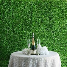 4 Panels- Bright Green Artificial Boxwood Hedge Faux Leave Genlisea Garden Wall