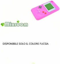 COVER CASE CUSTODIA GAMEBOY in SILICONE per Apple iPod Touch4 Touch 4 FUCSIA