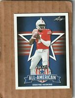 2 -2019 Leaf Draft Football Dwayne Haskins Ohio State Buckeyes All-American #73