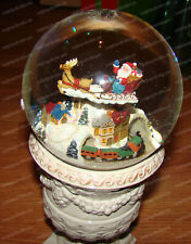 Flying Santa, Moving Train (San Francisco Music Box, 50599 ) 120mm Musical, WG