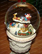 San Francisco Music Box, Animated Flying Santa, Moving Train (50599) Musical, Wg
