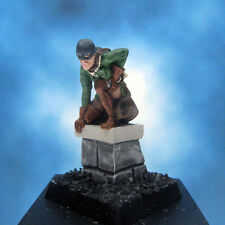 Painted Fenryll Miniature Thief on rooftop