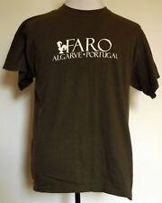 Faro Algarve Portugal Olive Green Souvenir S/S T-Shirt L