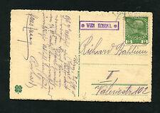 """Postablage """"Wien Kobenzl"""" auf Karte von 1915   (#1356)"""