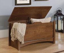 Sauder 412221 Multi-Purpose Oiled Oak Storage Chest - Brown