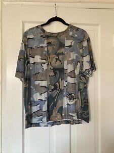 Men's Dries Van Noten Abstract Print Crew Neck T-Shirt Size M
