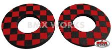 ProBMX Flite Style Old School BMX Grip Donuts - Pairs - Red & Black