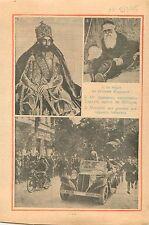 Negus Haile Selassie Ethiopia Ethiopie Mgr Jarosseau Capucin 1935 ILLUSTRATION