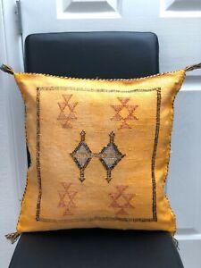Moroccan Cactus silk sabra cushion mustard yellow item61